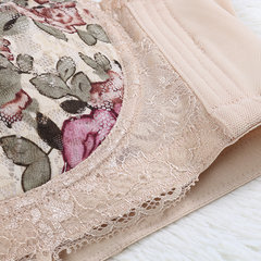 Plus Size C-F Sexy Lace Floral Printing Adjustable Underwire Push Up Bras