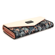 Women Stylish Floral PU Leather Envelope Button Long Wallet