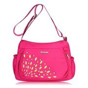 Women Casual Waterproof Nylon Rivet leaves Shoulder Bags Crossbody Bags