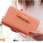 Universal Women PU Phone Wallet Purse 6.44'' Big for Iphone Redmi,Xiaomi,Samsung,Huawei