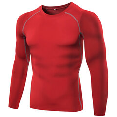 Training Bodybuilding Tops Quick-drying Elastic Tight Long Sleeve T-shirt For Men