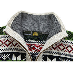 Mens Sweater Warm Thick Thick Stand Collar Casual Cardigans Zipper Sweatercoat