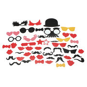 31PCS Photo Booth Props Mustache Mask On A Stick Birthday Wedding Party DIY