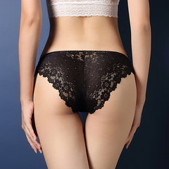 Low-waist Transparent Lace Panties T-back Brief Sexy Underwear