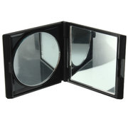 Black Portable Collapsible Double-sided Magnifying Makeup Vanity Mirror