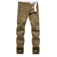Military Style Casual Outdoor Cotton Multi-Pockets Loose Cargo Pants For Men