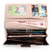 Женщины Bowknot Пряжки Длинные Leopard Zipper Bag Ladies большой емкости бумажники