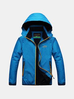 Открытый Повседневная Скалолазание Водонепроницаемый Anti-Ветер дышащий с капюшоном Спортивная куртка для мужчин