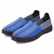 Men Knitting Weave Color Match Casual Sport Slip On Outdoor Shoes