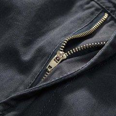 Сыпучие Fit Solid Color Multi-карман Комбинезон хлопок брюки-карго для мужчин