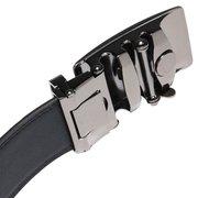 120см Мужской натуральной кожи Автоматическая пряжка Черный бизнес ремень