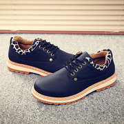 British Style Metal Button Lace Up Work And Casual Shoes For Men