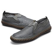 Big Size Mesh Breathable Light Holllow Out Slip On Casual Shoes For Men