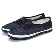 Denim Flat Slip On Pure Color Canvas Soft Casual Loafers