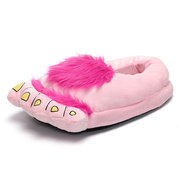 Fur Big Foot Toe Shaped Slip On Covering Flat Home Cute Slippers