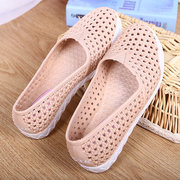 Hollow Out Breathable Waterproof Casual Slip On Beach Flat Shoes