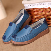 Women Casual Shoes Mix Color Slip On Loafers