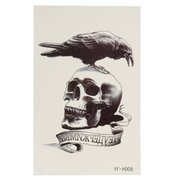 Waterproof Eagle Skull Temporary Tattoo Sticker Body Art Removable