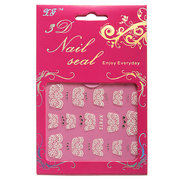 1 Sheet White Flower Lace Nail Art Tips Transfer Sticker Decal Self-adhesive