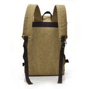 Big Capacity Casual Canvas Travel Backpack Laptop Compartment Solid Bag For Man