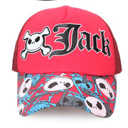 Men Women Cartoon Skull Letter Mesh Outdoor Sunshade Breathable Baseball Cap