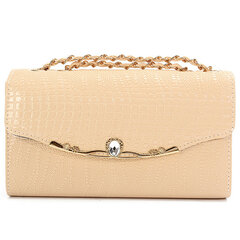 Women Diamond Crocodile Grain Stain Bag
