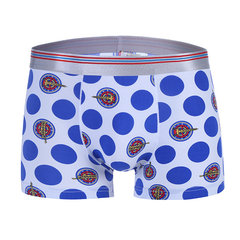 Comfortable Breathable U Convex Pouch Printing Boxers Ice Silk Underwear For Men