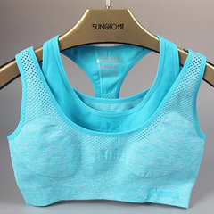 Women Sexy Shockproof Mesh Running Bra Push Up Breathable Racerback Bras