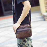 Men Genuine Leather Crossbody Bag Fashion Business Shoulder Bag