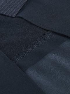 Women Fashion Lapel Collar Pure Color Chiffon Hem Coat