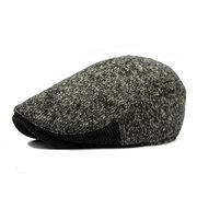 Men Woolen Knitted Beret Cap Gentleman Newsboy Cabbie Golf Sun Visor Hat