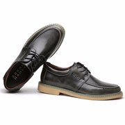 Genuine Leather Oxford Lace Up Casual British Shoes For Men