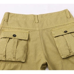Mens Cargo Pants Multi-pocket Solid Color Loose Fit Outdoor Spring Fall Trouser