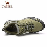 Camel Men Leather Anti Skip Wearproof Lace Up Outdoor Sport Hiking Shoes