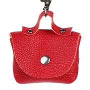 Women Leather Candy Color Mini Purse Coin Wallet