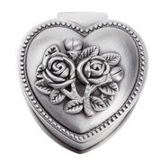 Rose Heart Shaped Zinc Alloy Jewelry Box