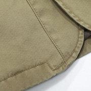 Mens Fall Winter Outdoor Jacket Turndown Collar Multi-pocket Military Casual Cotton Coat