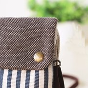 Woman Cute Stripe Phoen Bag Casual Outdoor Phone Wallet Coin Bag Change Bag