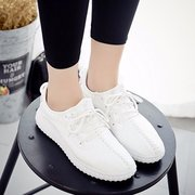 Stitching Pure Color Lace Up Casual Light Pure Color Shoes