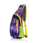 Women Men Nylon Casual Candy Color Outdoor Sport Travel Chest Bags Leisure Crossbody Bags