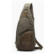 AERLIS Men Canvas Multifunctional Outdoor Sports Crossbody Bag Shoulder Bag Chest Bags
