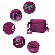 Women Square Waterproof Crossbody Bag Nylon Shoulder Bag