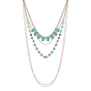Bohemian Multilayer Necklace Alloy Crystal Rhinestone Necklace
