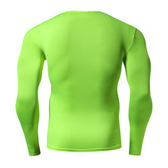 Mens Sport Bodybuilding Breathable Tops Quick-drying Elastic Tight Long Sleeve T-shirt