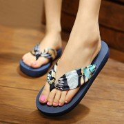 Big Size Colorful Ribbon Clip Top Flip Flops Summer Outdoor Holiday Beach Slippers