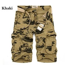 Mens Camo Cargo Loose Shorts Large Multi Pockets Cotton Short Pants