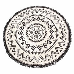 Round Geometry Pattern Tassel Beach Towel Shawl Yoga Mat Wall Hanging Decor
