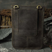 Genuine Leather Cowhide Elegant Waist Bag Phone Bags