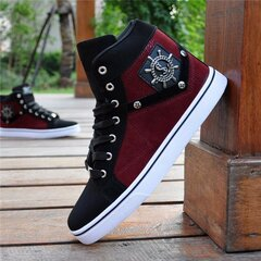 Lace Up Flat High Top Casual Scrub Man Waterproof Shoes