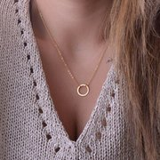 Clavicle Circle Chain Pendant Necklace